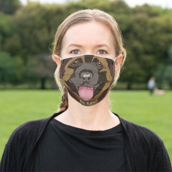Be Kind Dog Cloth Face Mask