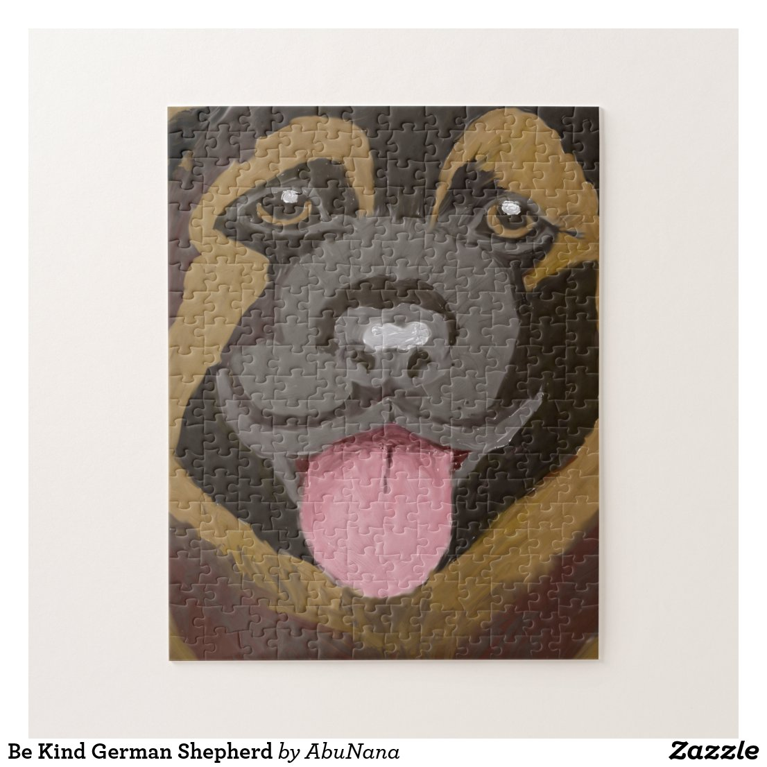 Be Kind German Shepherd Jigsaw Puzzle