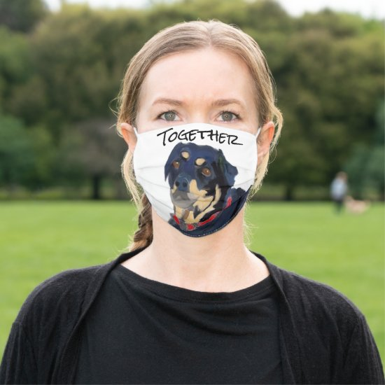 Be Kind Mantra Quote Rottweiler Black Cloth Face Mask