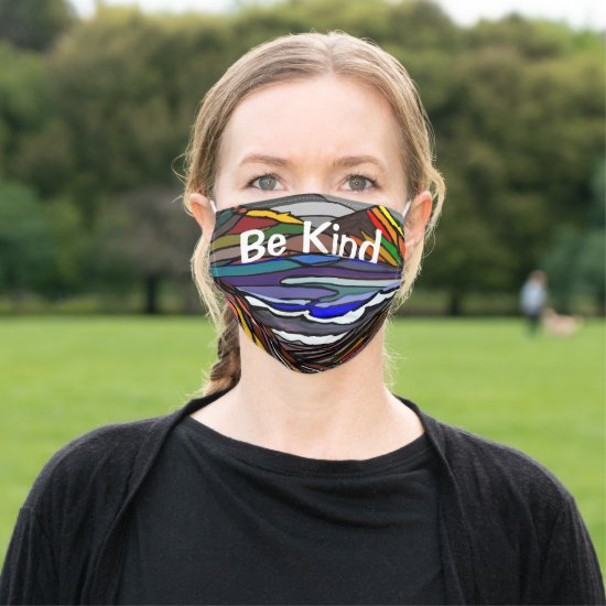 Be Kind Stained Glass of Nature Cloth Face Mask