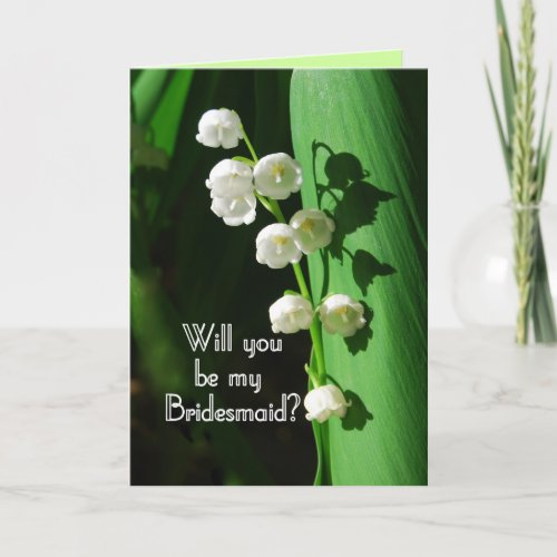 Be My Bridesmaid Lily of the Valley card
