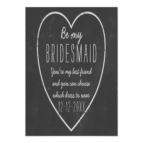 Be My Bridesmaid Proposal Magnetic Invitation