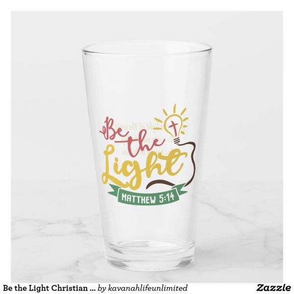 Be the Light Christian Glass