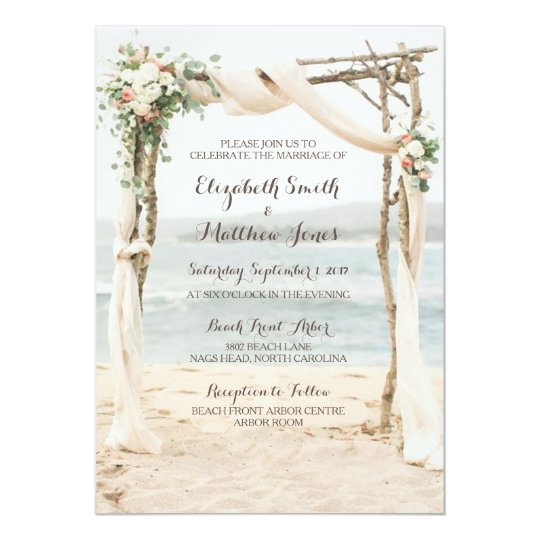 Beach Arbor Wedding Invitation  Zazzlecom