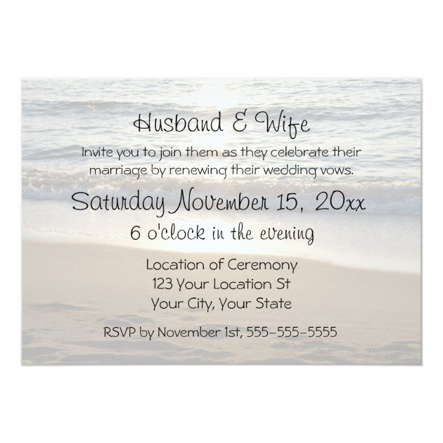 Beach Save Date Cards