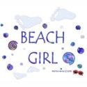 Beach Girl - Footprints & Swirls 2 - Tote Bag zazzle_bag