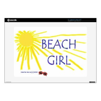 Beach Girl Sun - Laptop Skin