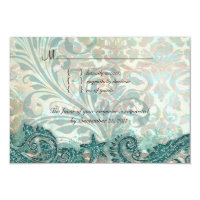 Beach RSVP Wedding Reply Card Dolphins