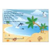 Beach Spot Invitation