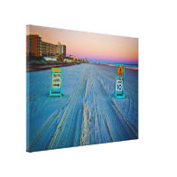 Beach Traffic Signs on Daytona Beach at Dawn Canvas Print