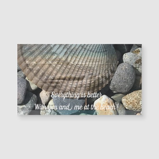 Beach Water Rocks & Shells Greeting Card
