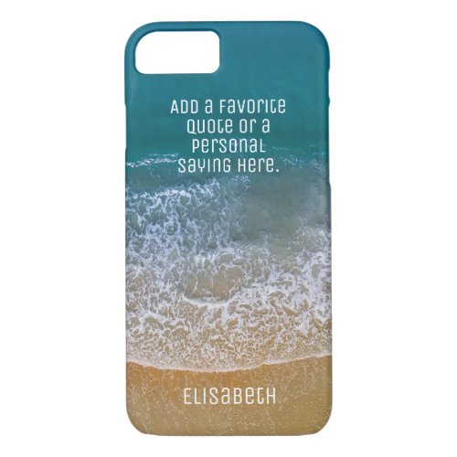 Beach Waves Sand Shore Personalize iPhone 8/7 Case