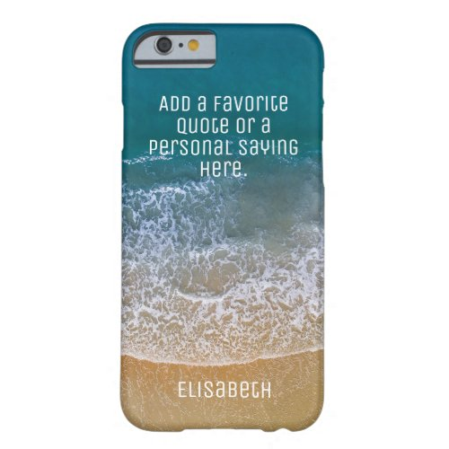Beach Waves Sand Shore Personalize Barely There iPhone 6 Case
