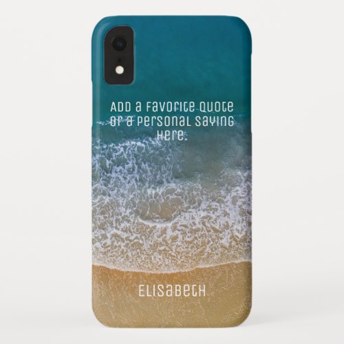 Beach Waves Sand Shore Personalize iPhone XR Case