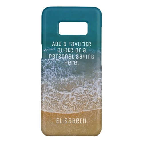 Beach Waves Sand Shore Personalize Case-Mate Samsung Galaxy S8 Case