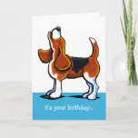 ❤️ Beagle Howling Funny Birthday Card
