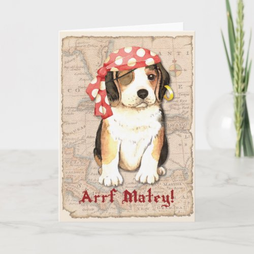 Beagle Pirate Card