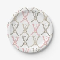 Beautiful Baby Sock Monkey Paper Plate