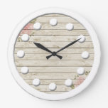 Beautiful Country Shabby Chic Rustic Wood Large Clock
