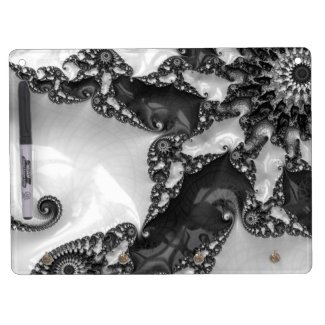 Beautiful Elegant White&Black Lace Fractal Dry Erase Board