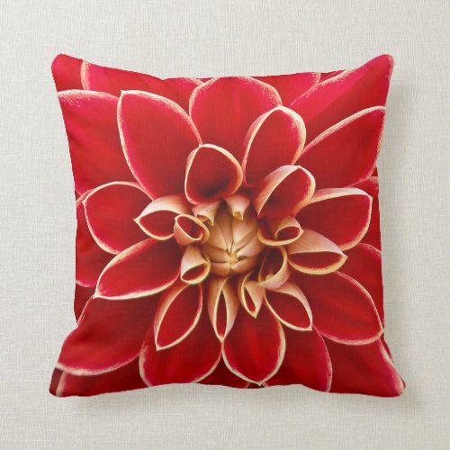 Beautiful Fall Dahlia Throw Pillow