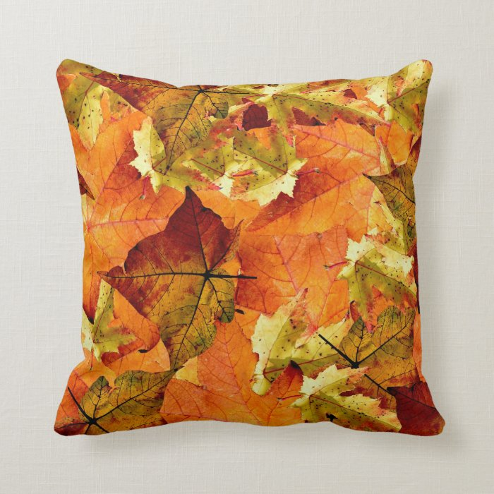 Beautiful Fall Leaves Pillow Throw Pillow  Zazzle