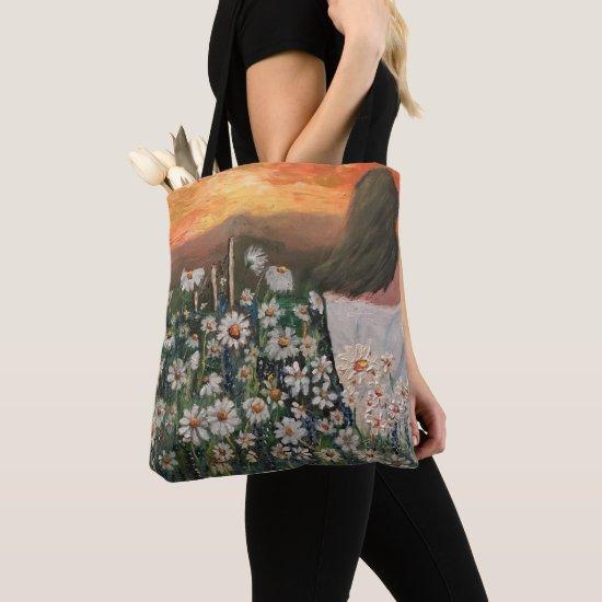 Beautiful Field of Daisies Tote Bag