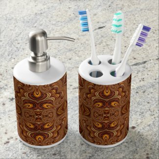 Beautiful Fractal Art Decor Soap Dispensers