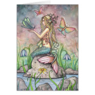 Beautiful Mermaid Card by Molly Harrison
