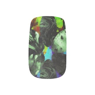 Beautiful Mess Abstract Grunge Minx Nail Wraps