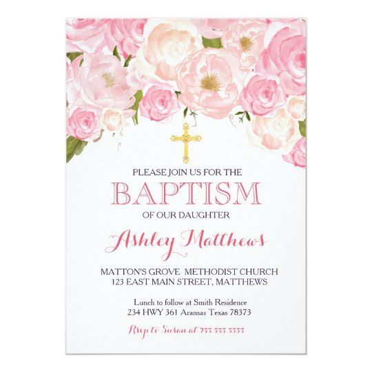 Create Baptism Invitation Card