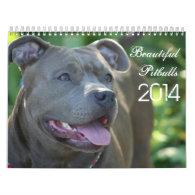 Beautiful Pitbulls 2014 Dog Calendar