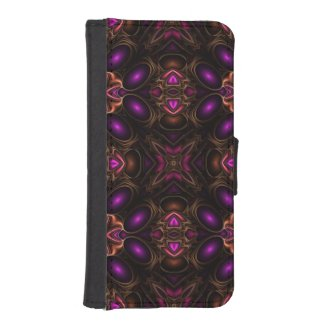 Beautiful Purple/Pink Pattern Iphone5 Wallet Case