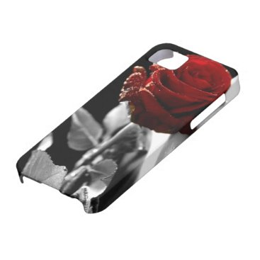 Beautiful Red Rose with Black & White background iPhone SE/5/5s Case