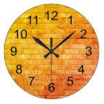 Beautiful Rustic Brick wall Texture Large Clock