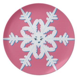 Beautiful Snowflake Plate