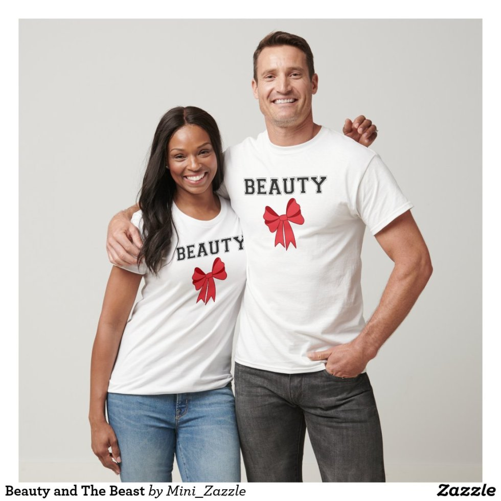 Cute Matching Beauty and The Beast Couple Shirts