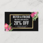 Beauty Florals Salon Referral Card