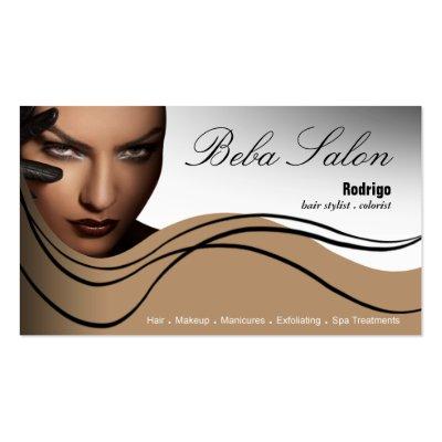 Beauty Salon I - Hair Makeup Nails Spa Treatments Business Card by