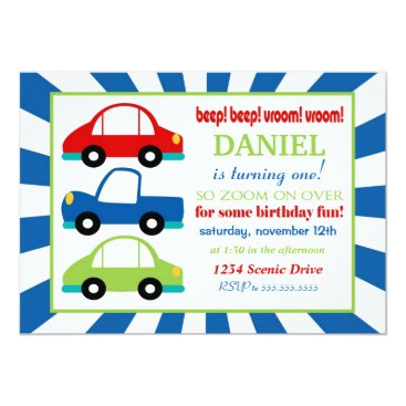 Beep Beep Birthday Party Invitation