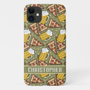 Beer and Pizza Lovers Add Your Name iPhone 11 Case
