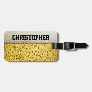 Beer Glass Personalize Bag Tag