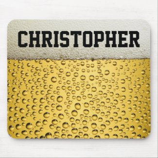 Beer Glass Personalize Mouse Pad