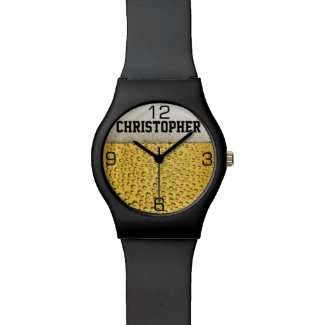 Beer Glass Personalize Wrist Watch