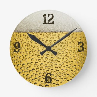 Beer Glass Round Clock