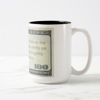 Benjamin Franklin Frugality & Industry Quote Mug