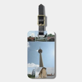 Berlin Architecture Photo Collage Bag Tags