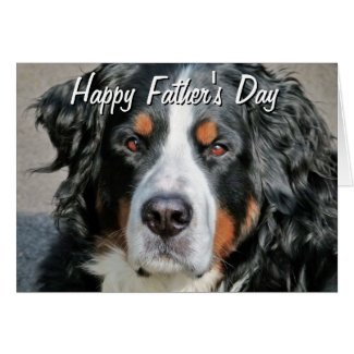 Bernese Mountain Dog Photo Image Happy Father's Da Greeting Card