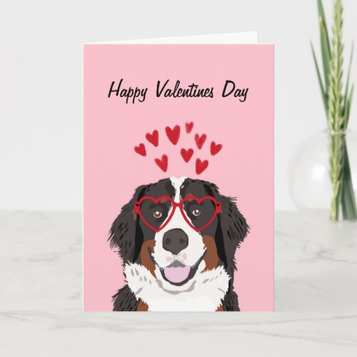 Bernese Mountain Dog Valentines Dog Love Holiday Card