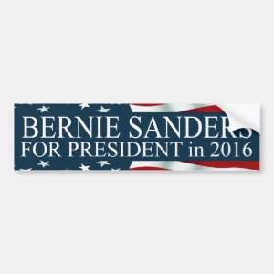 Bernie Sanders for President 2016 Car Bumper Sticker